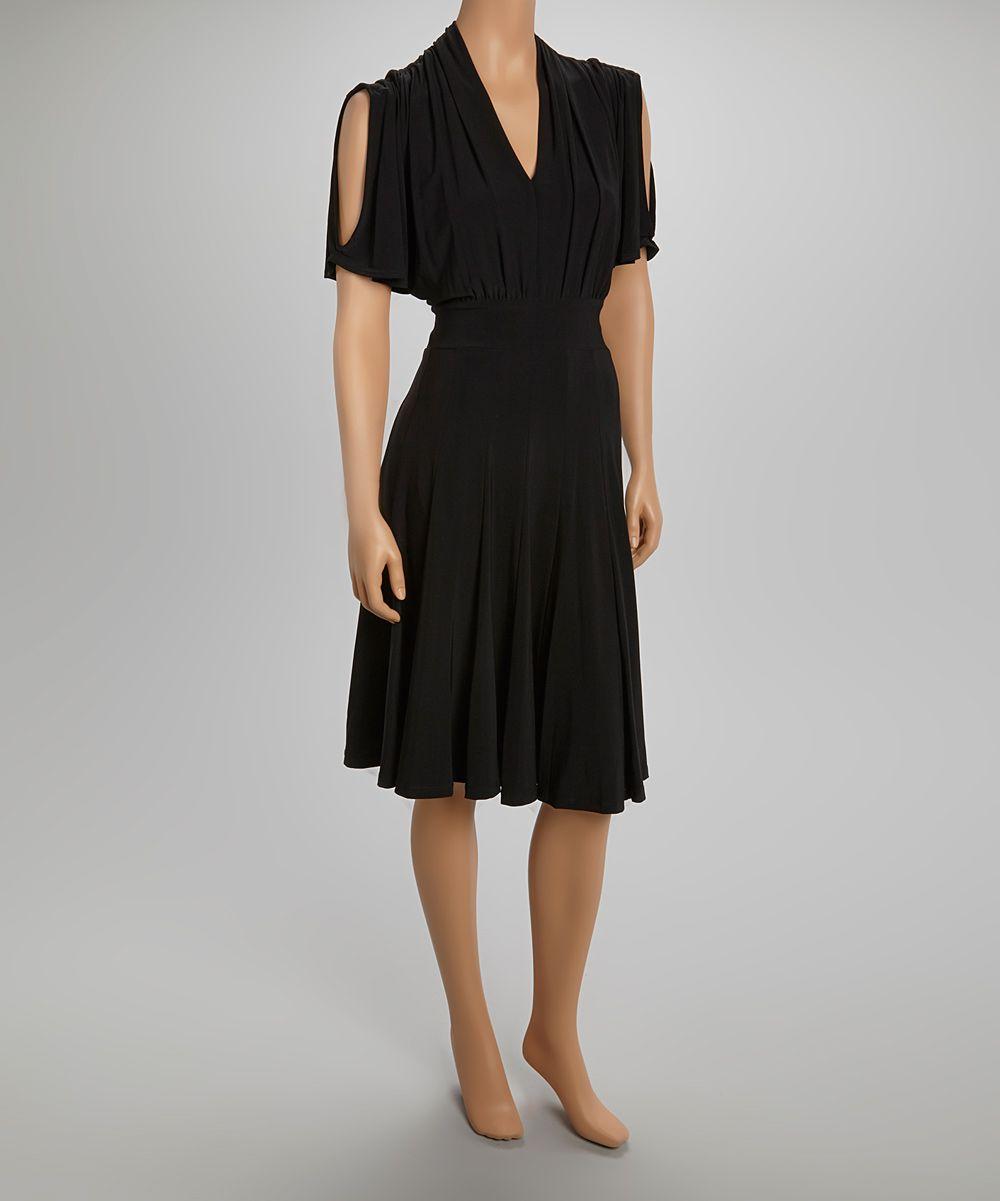 Quiz black cutout dress fashion forward