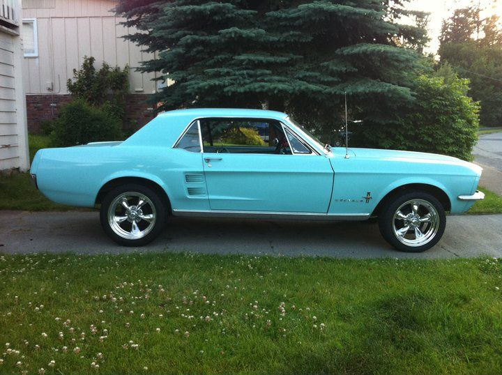 '67 Mustang, the first car I ever wanted. I'm pretty sure it was this color too.