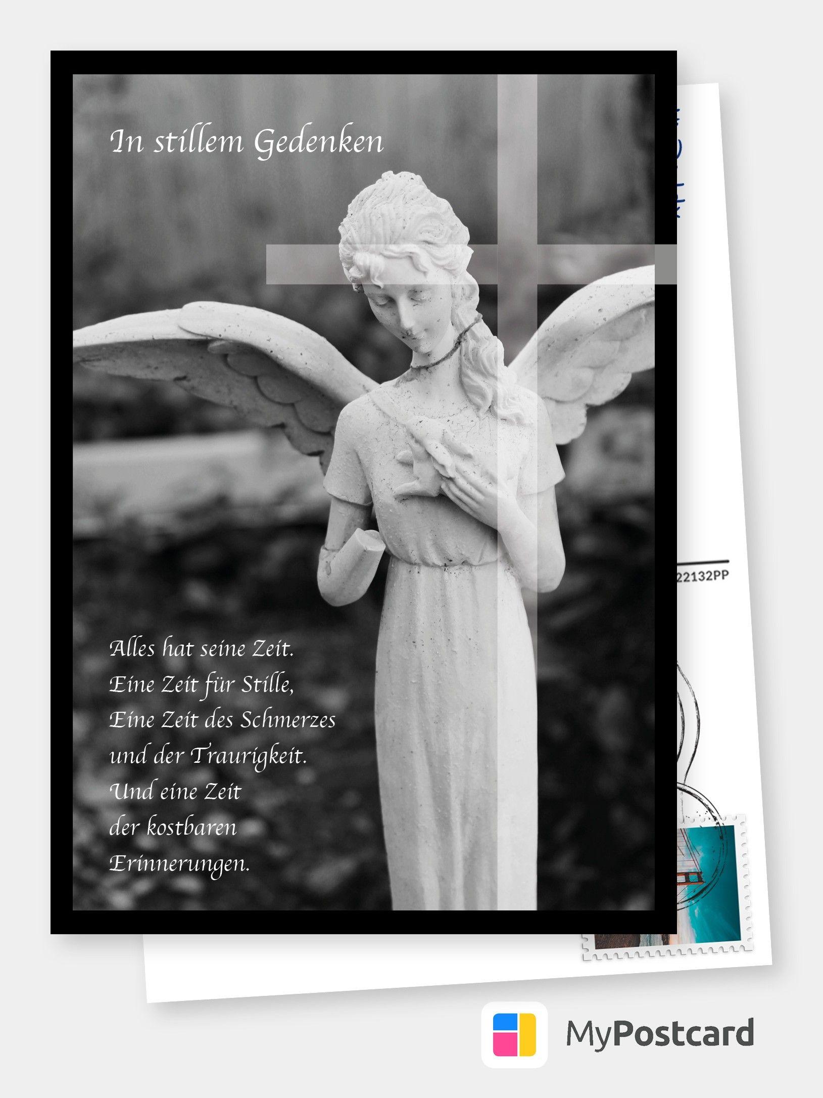 In stillem Gedenken – Engel   Trauerkarten 😔💌   Echte Postkarten ...