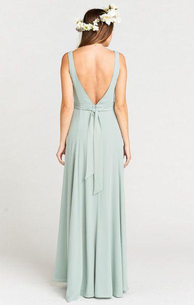 66262b1ec9a6 Jenn Maxi Dress ~ Silver Sage Crisp | Show Me Your MuMu | Bridesmaid ...