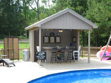 Outdoor bar would love this by my dream pool outdoor for Pool shed with bar plans