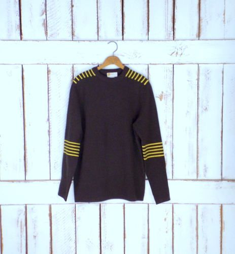 Vintage L.L.Bean green chunky ribbed knit cabin pullover sweater/cotton woven ski sweater pRHvhP15E