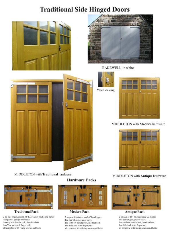Timber side hinged garage door details | Carriage House Doors ...
