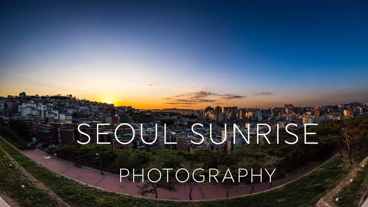 Sunrise photography at Naksan park in Seoul, South Korea