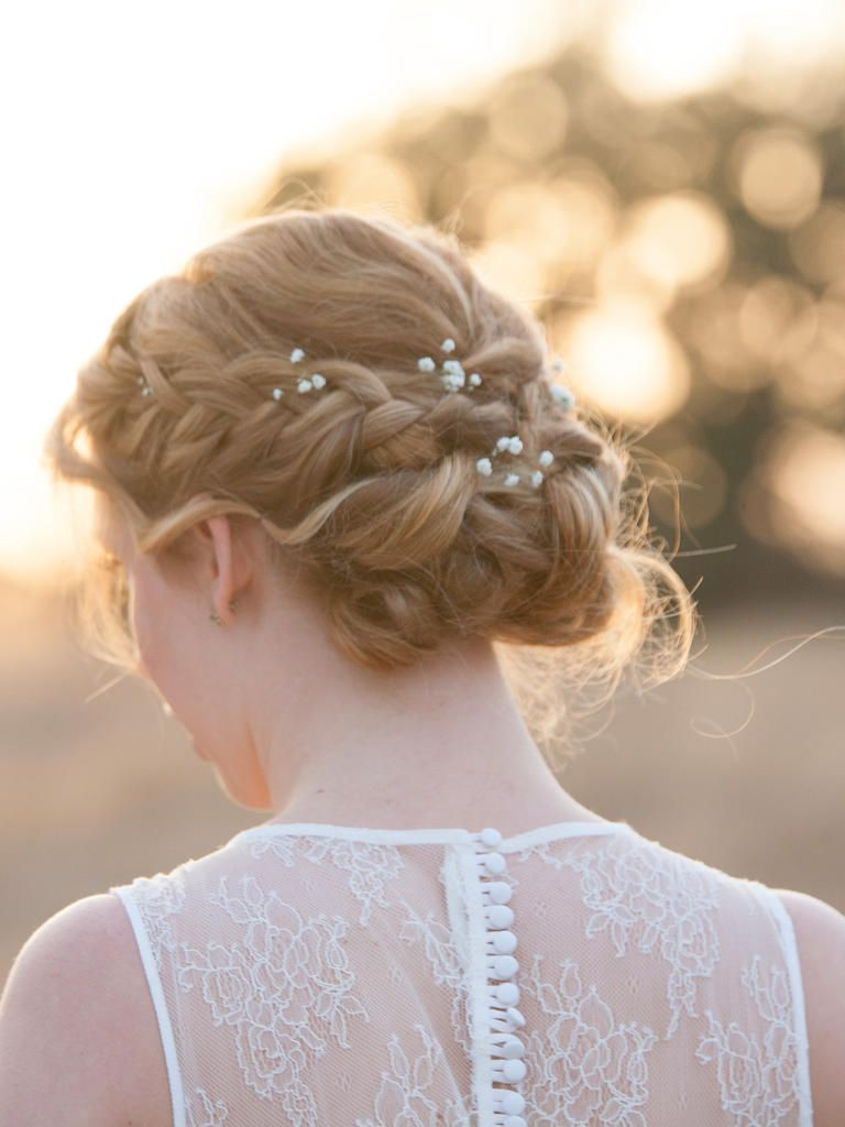 13 bridal braided updo ideas with flowers | elegant wedding