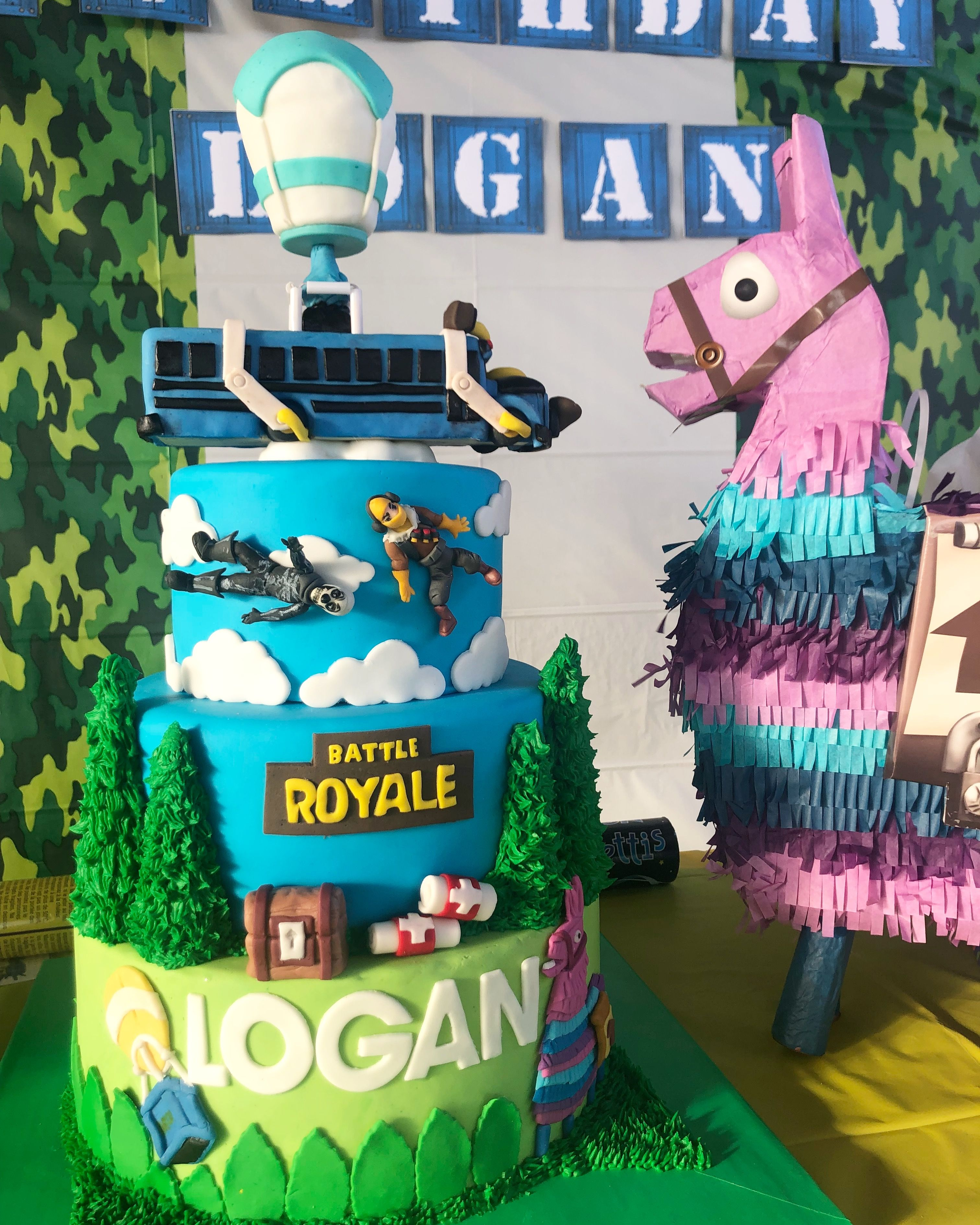 Fortnite Cake With Images Birthday Party Planning Boy