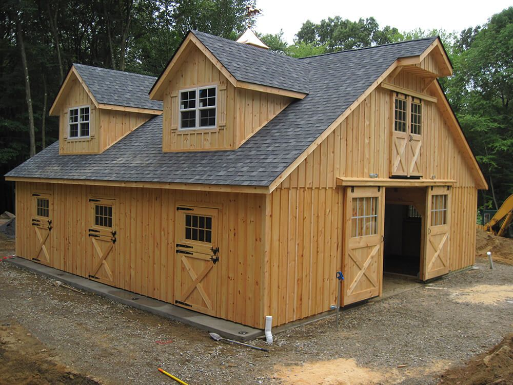 Prefab Is The Smart Way To Go Prefab Horse Barns Prefab Barns Backyard Barn Barn House Plans