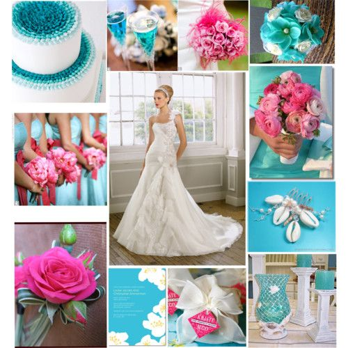 Baby Blue And Hot Pink Wedding N Mosaic Polyvore