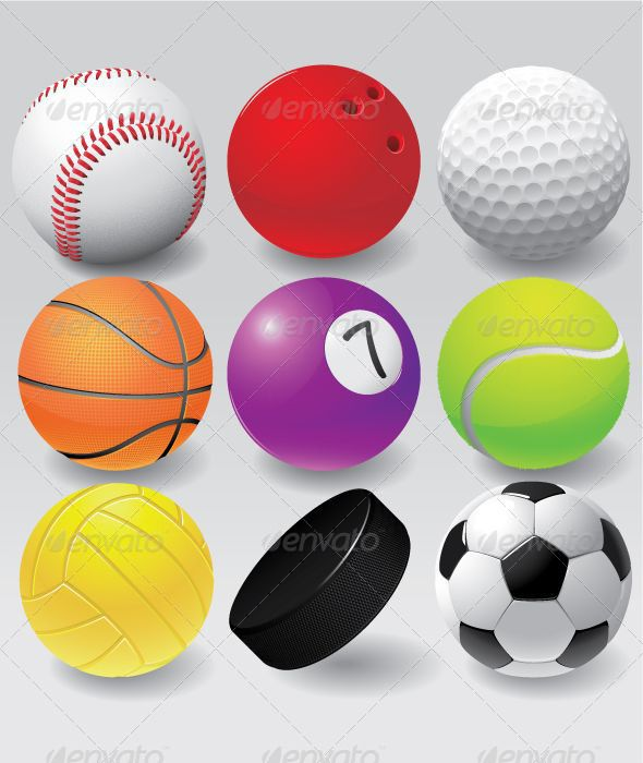 Colorful Sport Balls Set Sports Balls Sports Ball