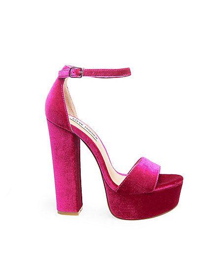 a56a35d5506 Velvet Platform Shoes   Heels