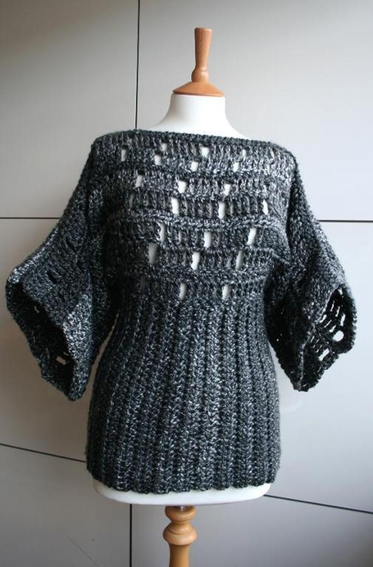 Kimono Poncho Crochet Pattern 199 Craftsy All Things Wool