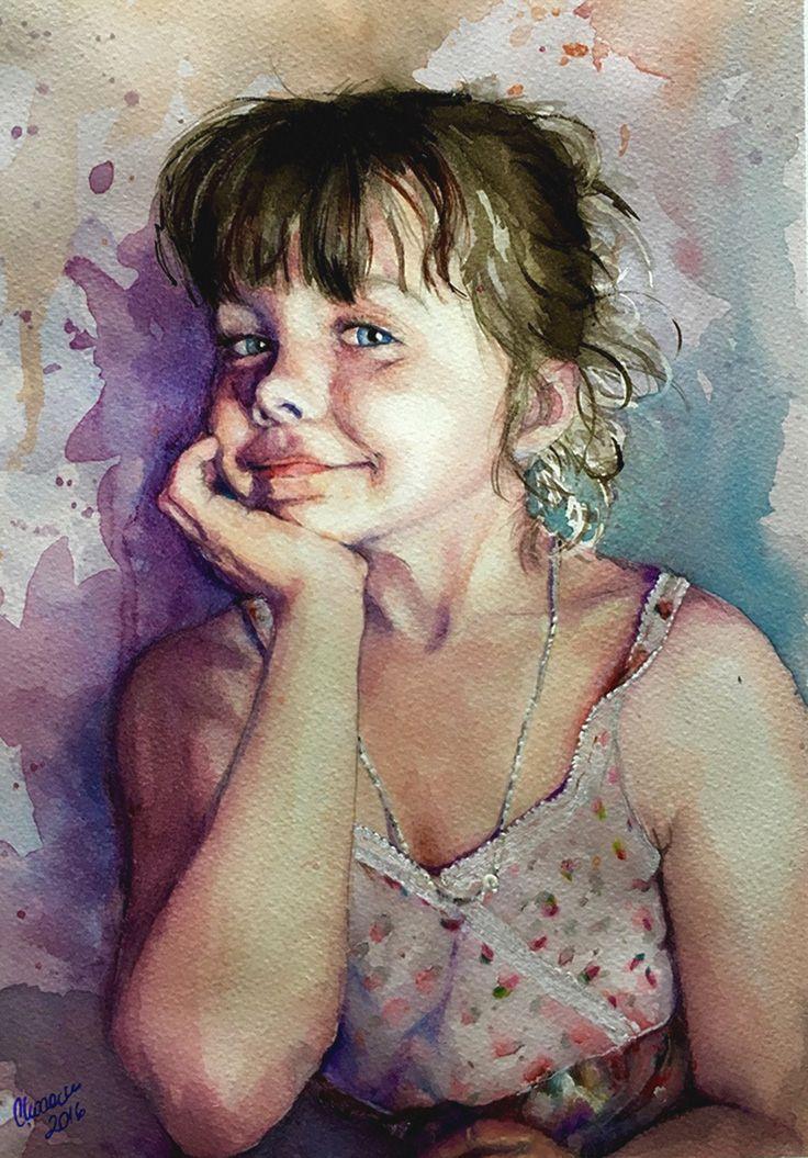 Julia Martyna Chodacka Watercolor 2016 Figurative Art Female