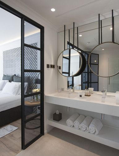10 Bathroom Design Tips To Steal From Hotels Hotel Bathroom Design Open Bathroom Hotel Room Design Hotel bathroom design ideas with