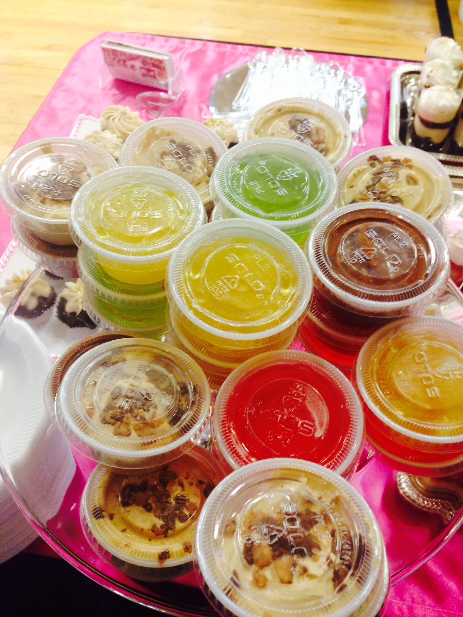 Jello  shots and pudding shots