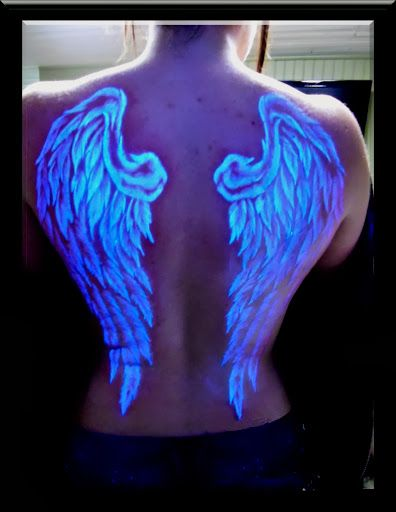 e533a39e270f0 Yoda Glow In the Dark Tattoos. Yoda Glow In the Dark Tattoos Tattoo Wings, Angel  Wings Tattoo On Back, Uv