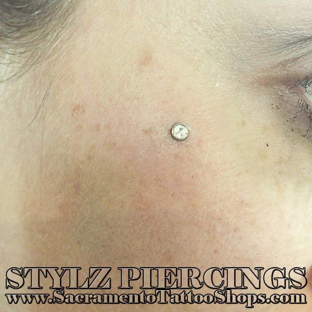 Dermal Piercing done by the Best shop in Sacramento, CA. Stylz ...
