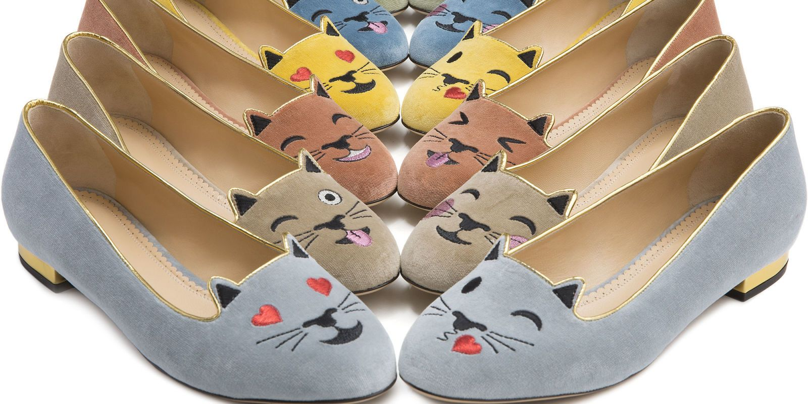 Charlotte Olympia's Classic Kitty Flats Are Also Emoji-Obsessed http://ift.tt/2dD1ADe #ELLE #Fashion