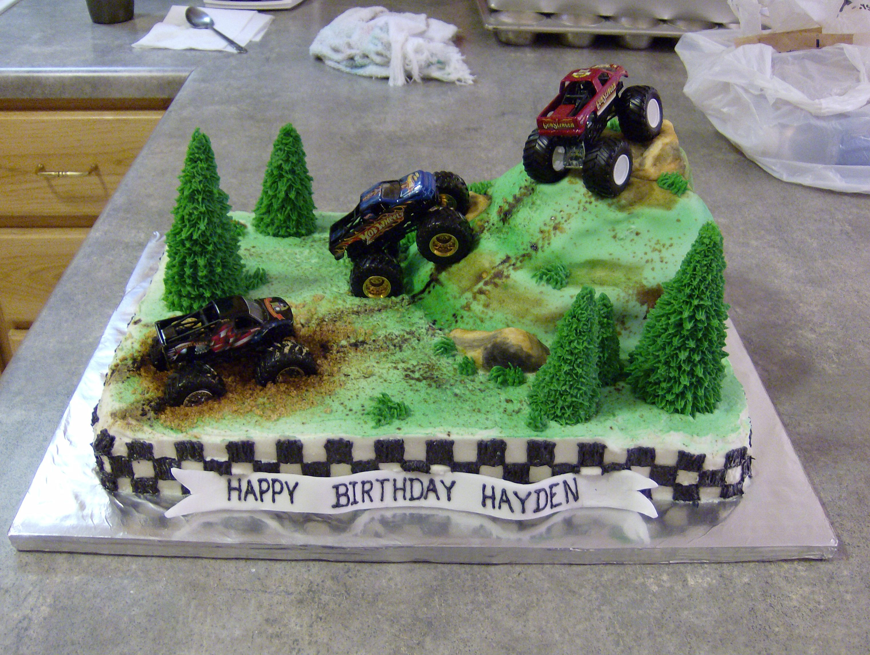 Excellent 4X4 Truck Birthday Cake Ideas 85924 4X4 Truck Cake Childre With Personalised Birthday Cards Sponlily Jamesorg