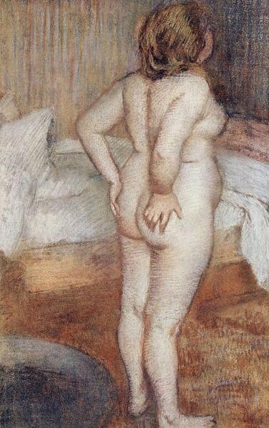 Standing Nude, c.1886 (pastel on paper), Degas