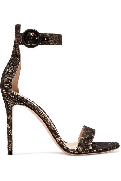 Lace sandals, Ankle strap sandals