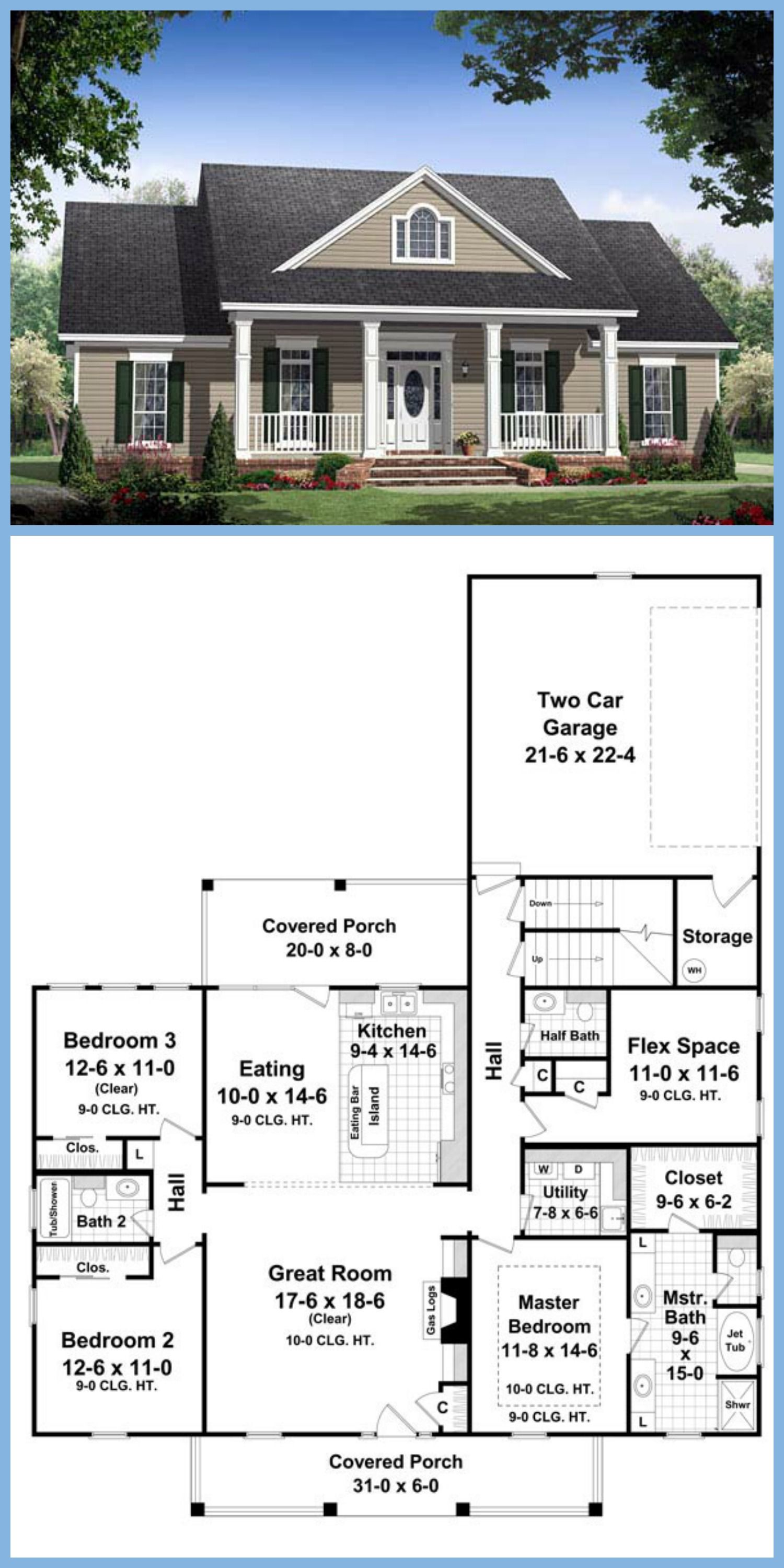 country farmhouse traditional house plan 59155 when i get a