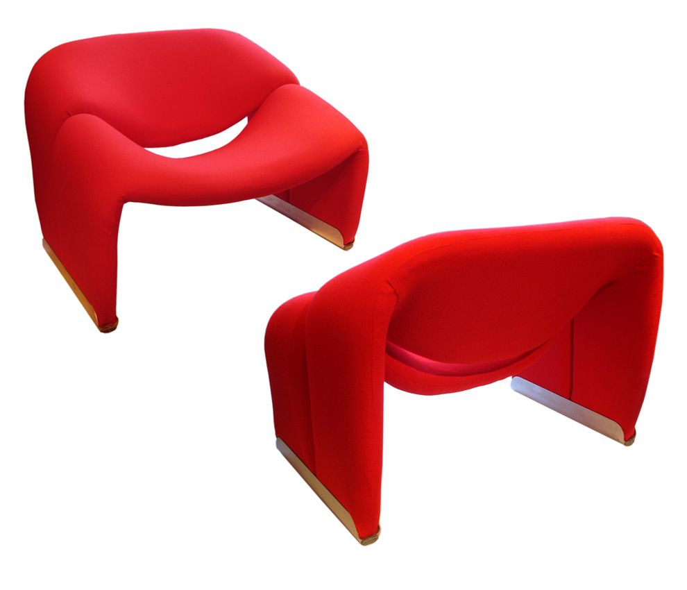 Pierre Paulin Ribbon Chairs In Missoni Fabric At 1stdibs: Pierre Paulin Groovy Ribbon Chairs. 1960s. Re-upholstered