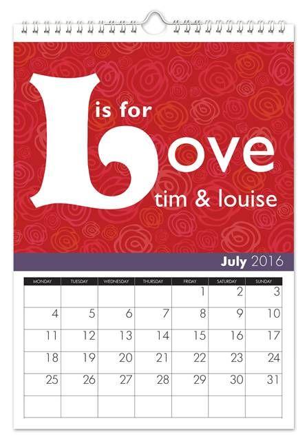 Personalized Wedding Anniversary Calendar 1st Wedding Anniversary Gift Personalized Wedding Wedding Anniversary Gifts