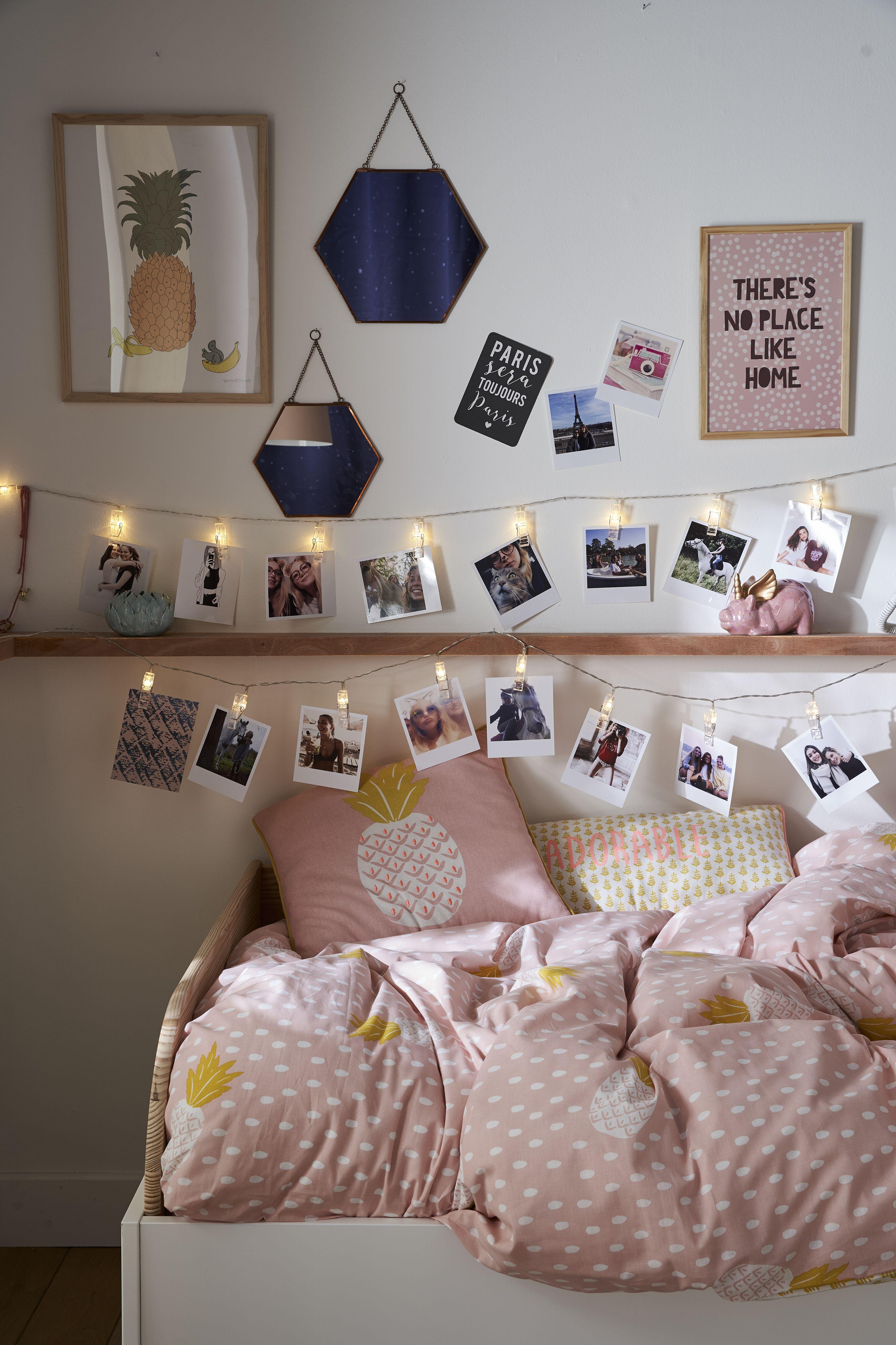 Guirlande lumineuse clips photos  Guirlande chambre bebe, Deco