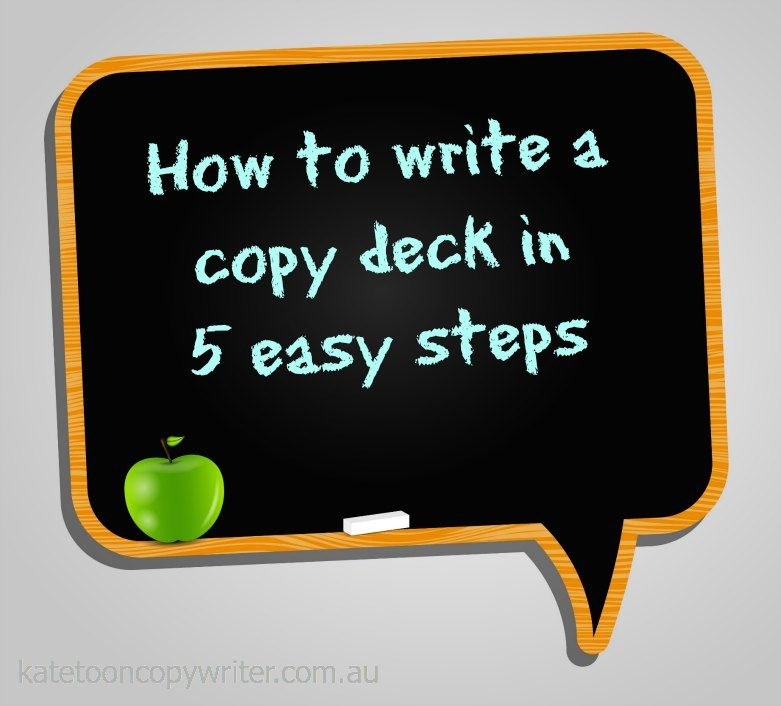 How to write a copy deck in 5 easy steps (Plus copy deck