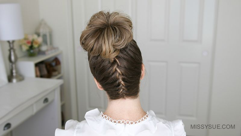 Upside Down Franz    sisch Braid High Bun   Frisuren Blog   Pinterest     Upside Down Franz    sisch Braid High Bun  braid  franzosisch  upside