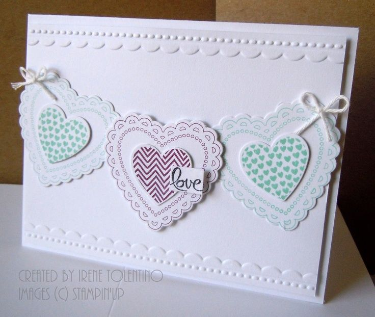image result for stampin up hearts a flutter cards hearts