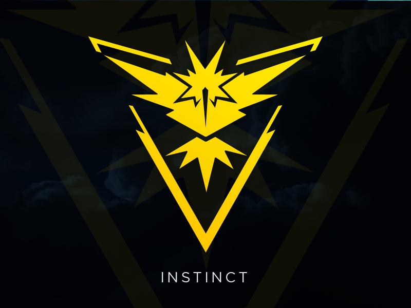 Instinct Pokemon Go Team Logo Vector Download Pokemon Go Team Instinct Instinct Pokemon Pokemon Teams
