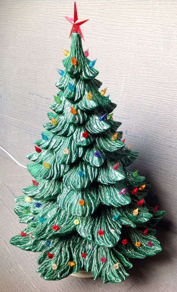 Extra Large Green Ceramic Christmas Tree Handmade And Stands Over 2ft Tall Ceramic Christmas Trees Vintage Ceramic Christmas Tree Green Ceramics
