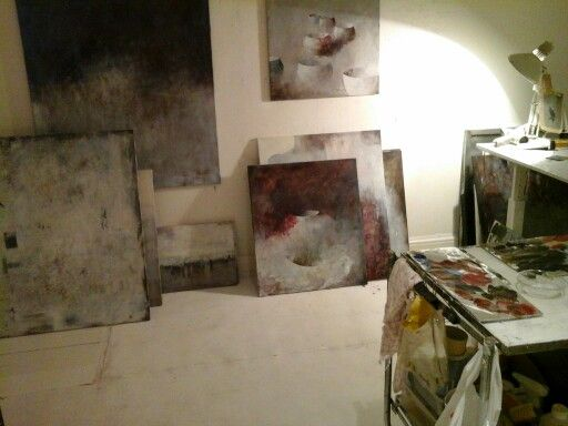 Stockholm art studio. Bodil Hedlund