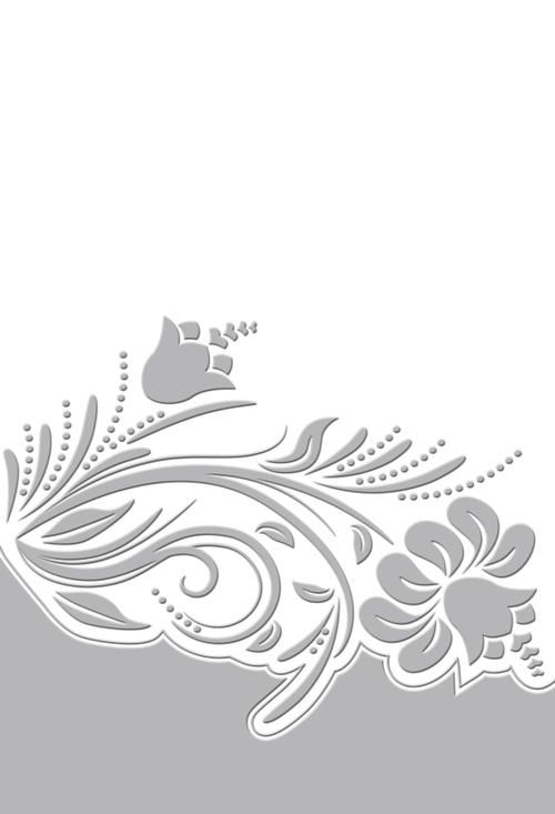 COUTURE CREATIONS EMBOSSING FOLDER Damask 7 x 5 inches