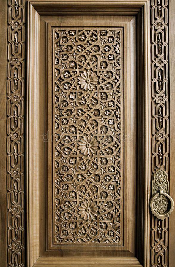 Traditional Wood Carving, Uzbekistan Stock Photo – Image of …