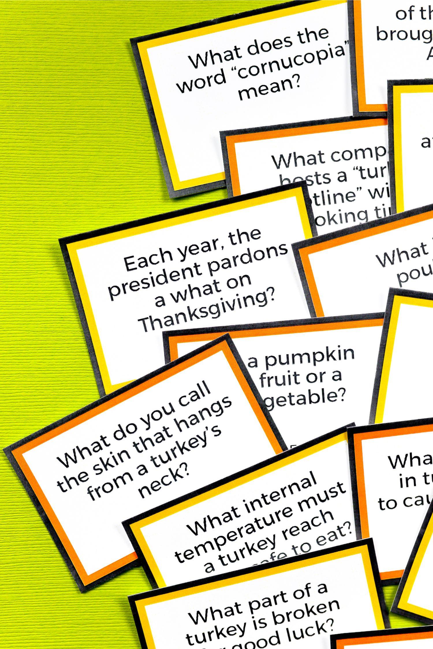 Free Free Printable Thanksgiving Trivia