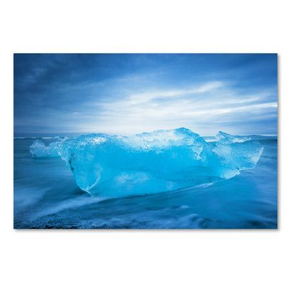 Trademark Art Blue Transparency by Philippe Sainte-Laudy Photographic Print on Wrapped Canvas Size:
