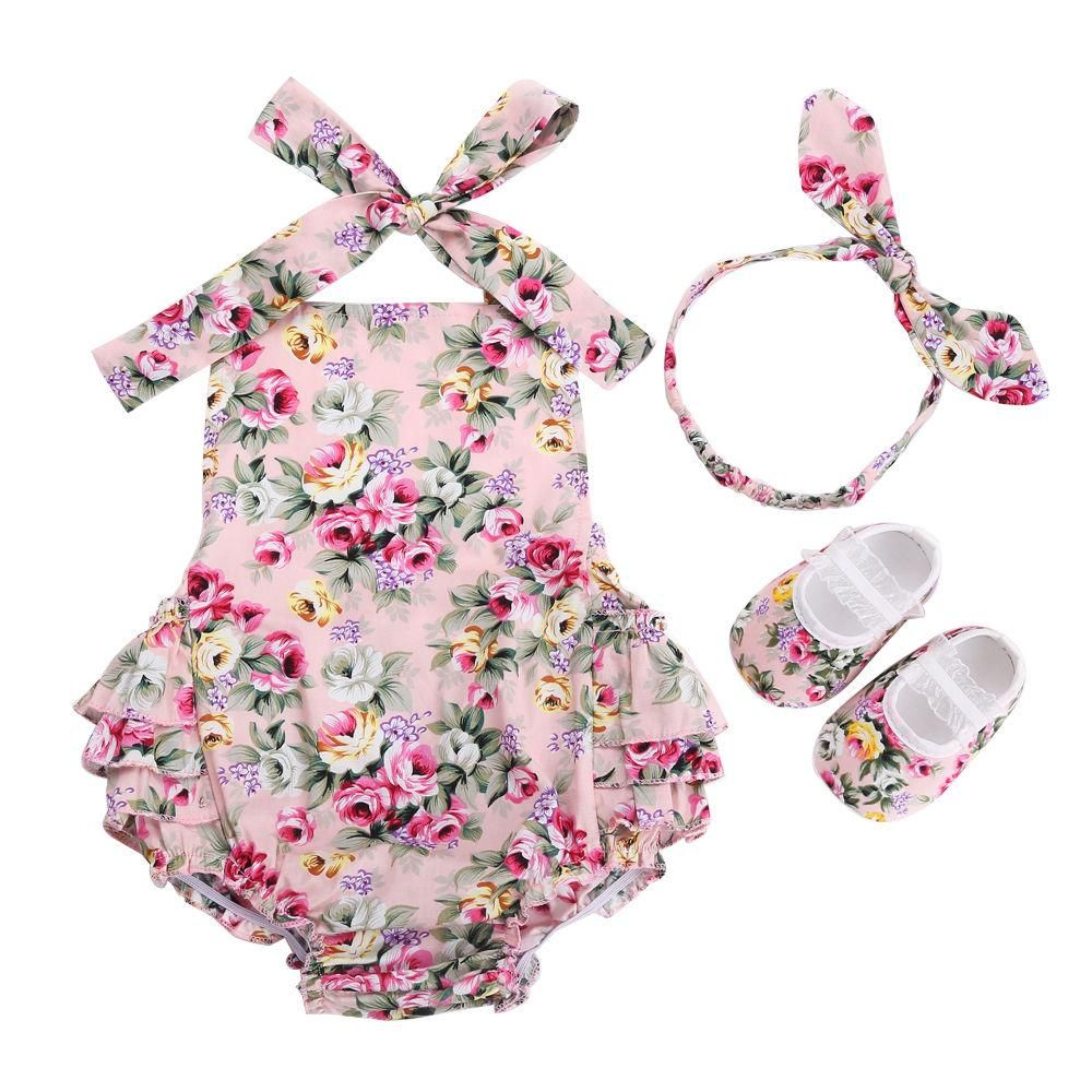839bd8eec823 Floral Baby Clothes Set Summer