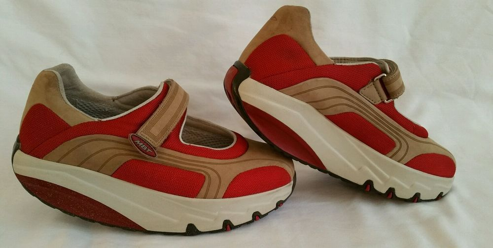 a5cce8de229d Women s MBT Lami Toning Walking shoe Mary Jane Cherry Red Grey Beige 7  MBT   Toningshoes