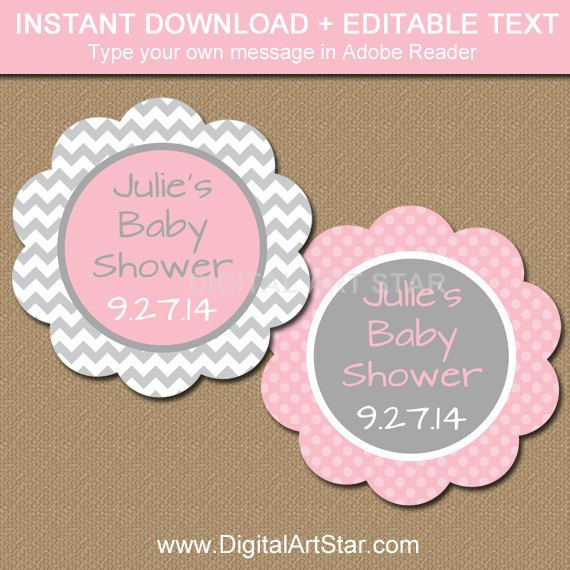 Baby Shower Thank You Tag Baby Shower Label Baby Shower Showers