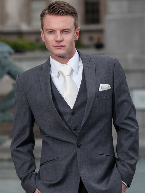 grey suit with champagne tie - Google Search | Suits for Men ...