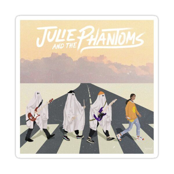 Julie and The Phantoms on Abbey Road Sticker