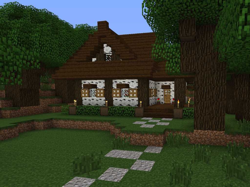 Forest cottage tutorial screenshots show your creation for Classic house tutorial