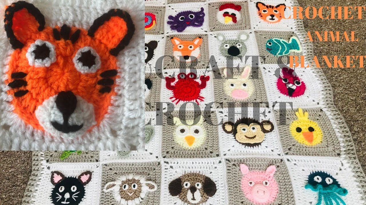 Crochet animal blanketcrochet baby blanketcrochet tiger