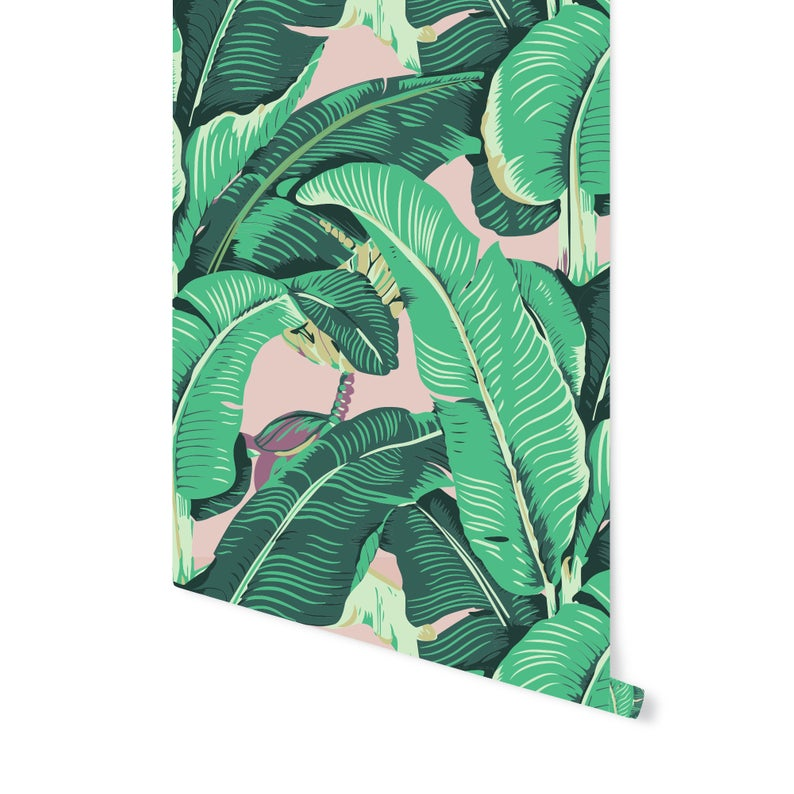 BANANA LEAF Wallpaper! REMOVABLE & Repositionalbe Just