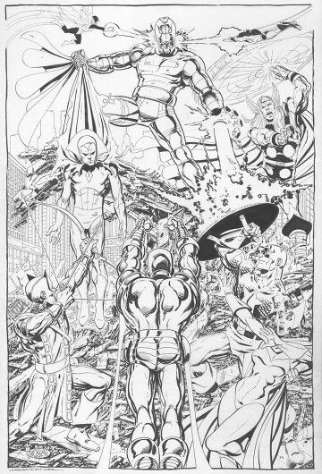 Pin By Mcray Studios On John Byrne  Drawings, Comics -6758