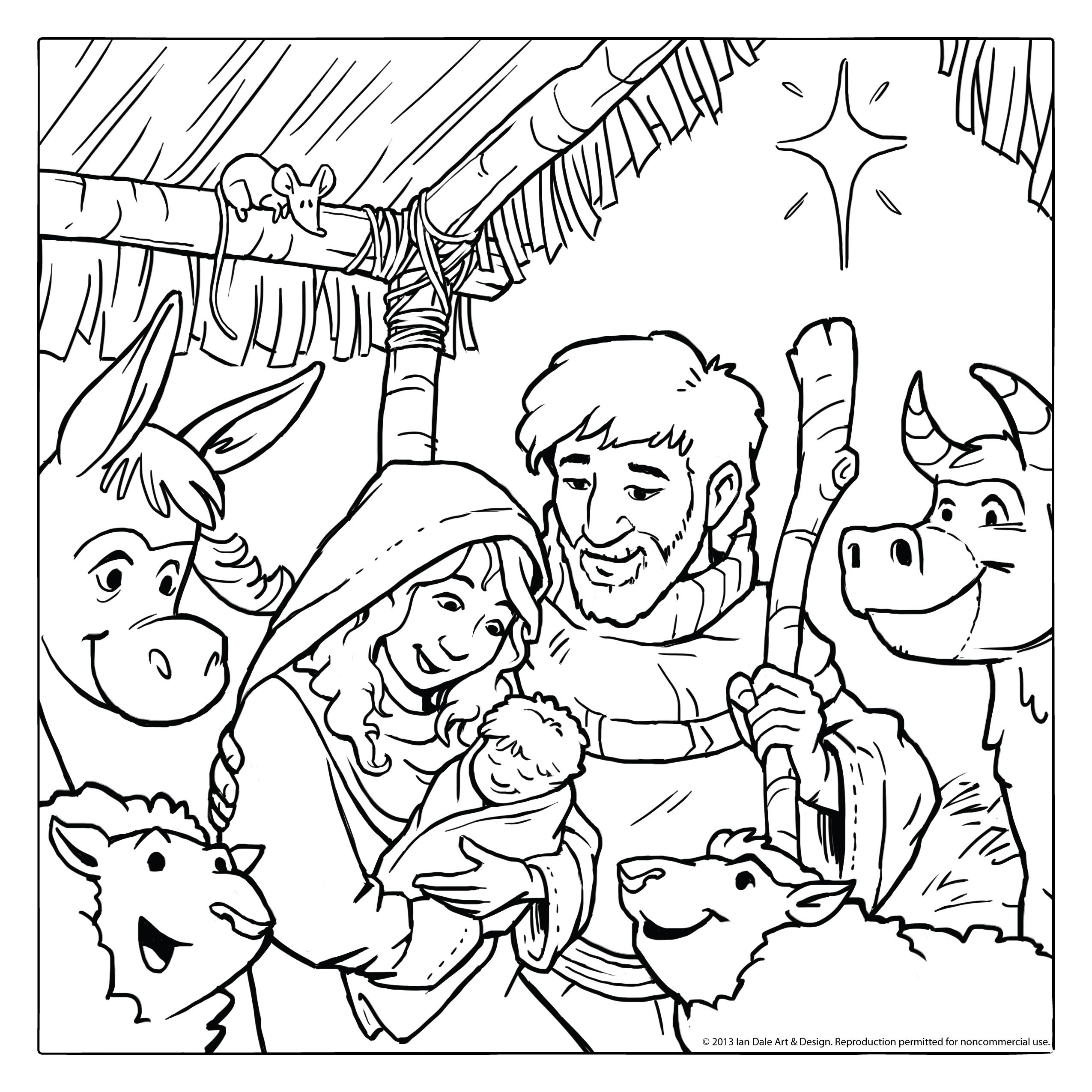 nativity coloring page - Nativity Character Coloring Pages