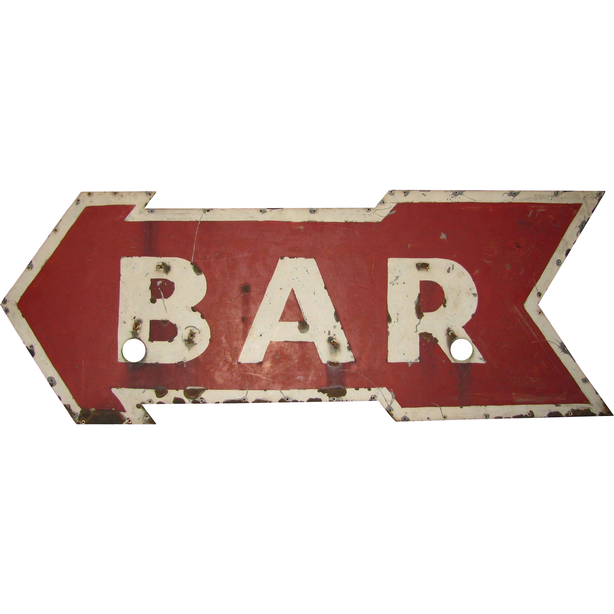 Vintage Ex Neon Tin Arrow Bar Sign | Vintage Advertising Signs ...