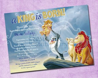 Lion king baby shower invitation jungle invitation disney baby lion king baby shower invitation jungle invitation disney filmwisefo Images